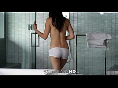 HD FantasyHD - Veronica Radke sucks and fucks hard dick in the shower