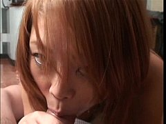 Beauty thrills man with wet blow job riding