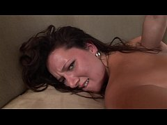 Brunette Cami Smalls with big ass swallows tattooed guy's thick cock after being fucked