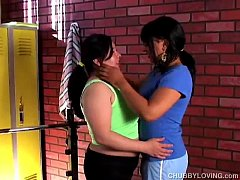 Lovely large lesbians fuck each others juicy pussys