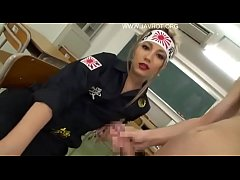 Japanese delinquent pisses on teacher and classmates