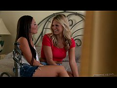 Scarlet Red and Abigail Mac at Sextape Lesbians