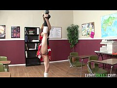 sexy cheerleader Sensi Pearl gets rammed hard by her prof