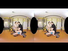 Belle Claire's gym VR anal video