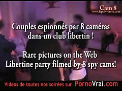 Spy cam at french private party! Camera espion en soiree privee. Part289
