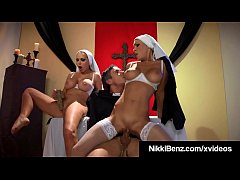 Sound Of Music? No! Sound of Sex! Nuns, Nikki Benz & Jessica Jaymes wrap their lips around their heavenly priest's hard taboo cock! Don't watch unless...... Full Video & Nikki Live @ NikkiBenz.com!
