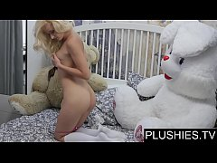 Erotic model Nika N first time sex on camera wih teddy bear Jack[part1]