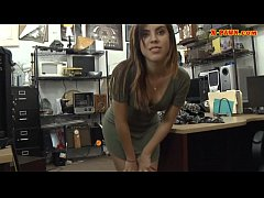 brunette woman drilled by nasty pawn guy