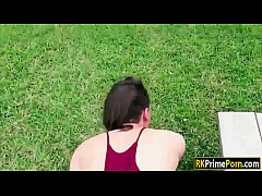 Soccer player Alex fucked in the fields