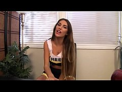 Sexy Cheerleader With Huge Tits Does HOT JOI To Stay On The Team - August Ames