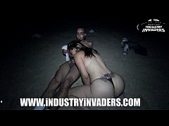 Industry Invaders - Carmen Ross Beach scene