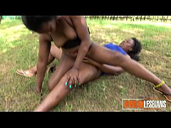 WTF! Crazy African lesbians eat pussy in PUBLIC PARK!