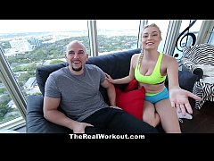 TheRealWorkout - Fitness Vlogger Fucked By Camera Crew