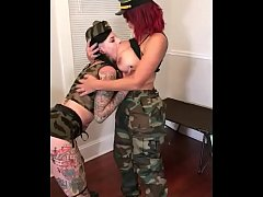latina milf forces tatted slut to eat pussy bts