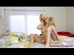 Petite lesbo scissors after getting queened