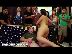 BANGBROS - Big pornstar party in college dorms with Diamond Kitty and Luna Star