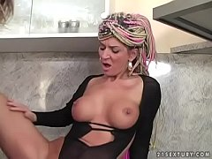 50 yo slut Janice vs young cock