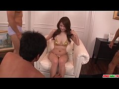 Arisa Kuroki moans with two dicks in her pussy and ass  - More at Japanesemamas com