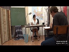 HD Gorgeous french teacher sodomized and facialized at school
