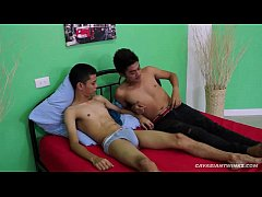 Big Dick Asian Boy Barebacks His Young Buddy