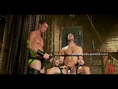 Gay hunk fucked in bondage extreme sex