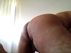 Horny guy masturbating
