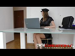 Belle in Sexy Police woman officer creampied