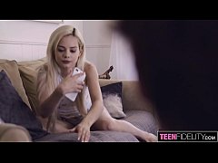 TEENFIDELITY Elsa Jean Challenged By Her Cousin's Cock