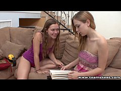 StepSiblings lovely blondes lesbian licking