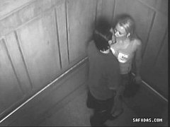 Couple have sex in elevator forgot there is a camera