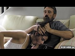 Stepdad disciplines perverted small tits stepdaughter