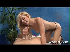 Agreeable sweetie gives good massage and a skillful throat job
