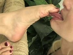 Lesbian Foot Worship - Mistress Claire and Olivia