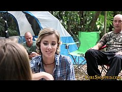 Camping stepteen banged