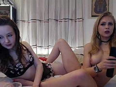 Teens on live webcam