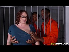 HD Busty Mom Maggie Green Takes Two BBCs in a Jail