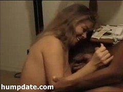 Hubby films his wife sucking cock of her date