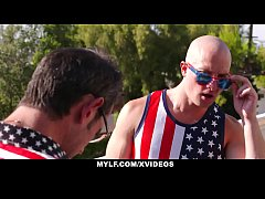 MYLF - Stepson Gets Fucked By Horny Mylf on July 4