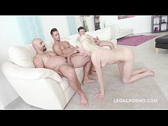 Blonde Cock slave Bree Haze complete submission,rough Anal DAP