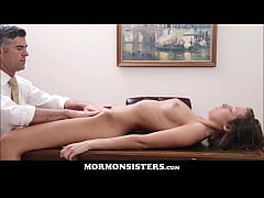 Perfect Body Mormon Teen Sister Orgasms In Front Of President