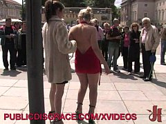 Blonde gets fucked in public
