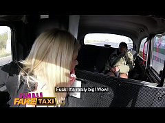 Female Fake Taxi Big tits sexy blonde fucked by her first big black cock