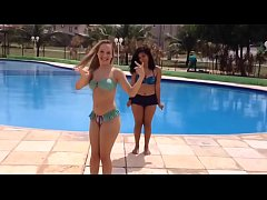 Best friends challenge in pool # BFF - yoga challengs water - desafio da piscina # 5