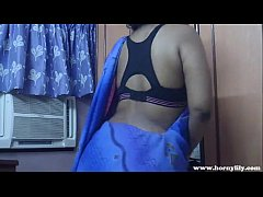 Horny Lily In Blue Sari Indian Babe Sex Video - Pornhub.com