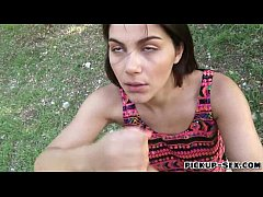 Huge boobs amateur teen Valentina Nappi fucked in the park