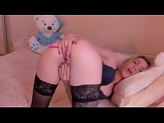 Funny blonde camgirl
