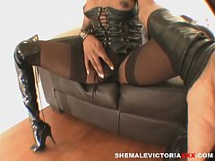 shemale in leather boots