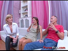 Two girls and one boy violent orgasm!! French amateur