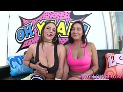 SWALLOWED Karlee Grey and Angela White deepthro...