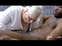 Crazy sexy blonde mature enjoying hardcore sex
